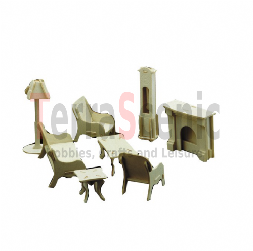 Dolls House Furniture Kit 1:12 Scale Living Room